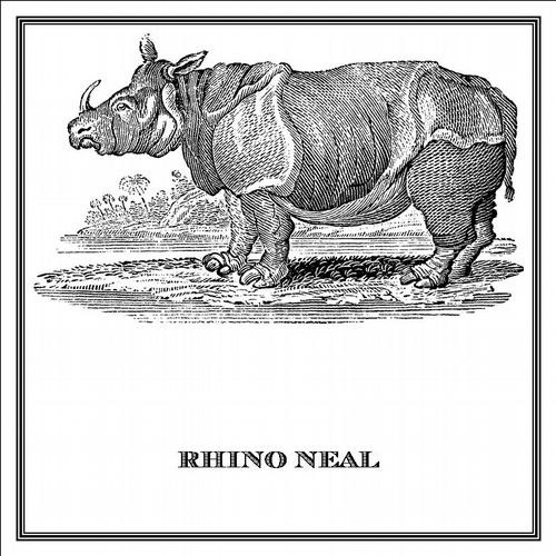 Zoomorphic' Greeting Card Rhino Neal